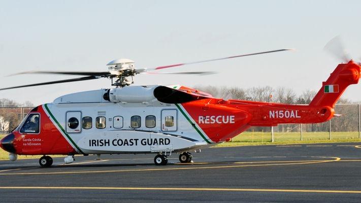 Irish Coast Guard's Rescue helicopter