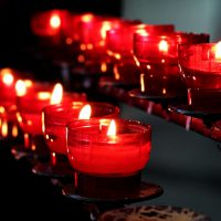 candles church-mass religion priest