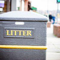 litter rubbish bin street