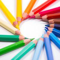 colour pencils school art creative