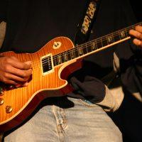 festival crowd concert gig music guitar