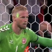euro 2020 denmark goalkeeper laser
