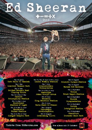 Ed Sheeran 2022 tour poster